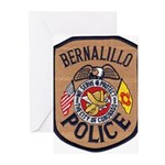 Bernalillo New Mexico Police Greeting Cards (Pk of