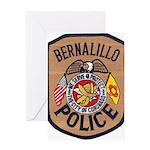 Bernalillo New Mexico Police Greeting Card