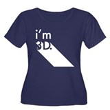 i'm 3D Women's Plus Size Scoop Neck Dark T-Shirt