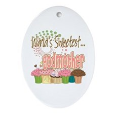 World's Sweetest Godmother Ornament (Oval)