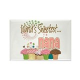 World's Sweetest Nana Rectangle Magnet (10 pack)