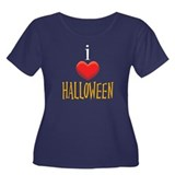I Love Halloween Women's Plus Size Scoop Neck Dark