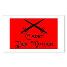 Cadet Den Mother Rectangle Decal