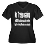 No Trespassing Women's Plus Size V-Neck Dark T-Shi