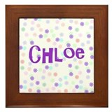 Chloe Flower Power Framed Tile