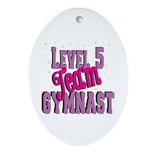 Level 5 Team Gymnast Ornament (Oval)