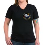 Wrath Of Khan Women's V-Neck Dark T-Shirt