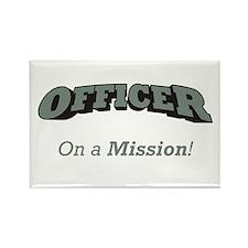Officer - On a Mission Rectangle Magnet (10 pack)