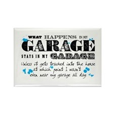 It Stays in My Garage Rectangle Magnet (10 pack)