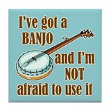 I've Got a Banjo Tile Coaster