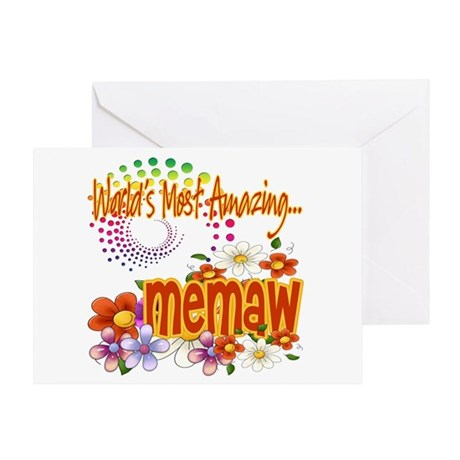 Most Amazing Memaw Greeting Card