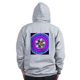 Jeweled Flame Zip Hoodie