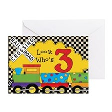 3rd Birthday Train Greeting Card