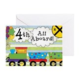 All Aboard 4th Birthday Greeting Card