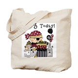3rd Birthday Pirate Tote Bag