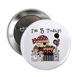 3rd Birthday Pirate 2.25&quot; Button