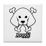 "Pirate Dog ""Arrrf!"" Tile Coaster"