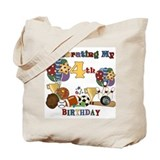 Sports 4th Birthday Tote Bag