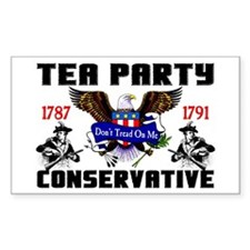 """Tea Party Conservative"" Decal"