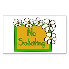 No Soliciting Daisy Decal