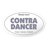 Contra Dancer Vinyl Oval Bumper Decal