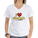 I Heart Derek Hough Women's V-Neck T-Shirt