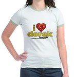 I Heart Derek Hough Jr. Ringer T-Shirt
