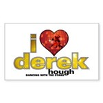 I Heart Derek Hough Sticker (Rectangle)
