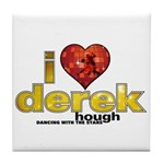 I Heart Derek Hough Tile Coaster