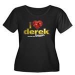 I Heart Derek Hough Women's Plus Size Scoop Neck Dark T-Shirt
