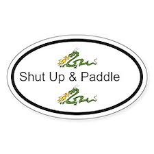 Shut Up & Paddle Dragon Boat Bumper Bumper Stickers