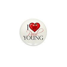 I Heart Paul Young Mini Button (10 pack)