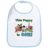 1st Puppy Birthday Bib