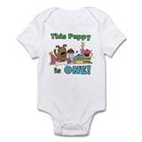 1st Puppy Birthday Infant Bodysuit