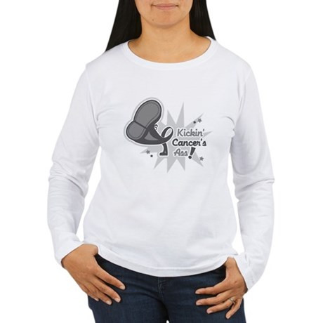 Kickin BrainCancer's Ass Women's Long Sleeve T-Shi