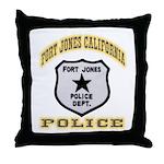Fort Jones California Police Throw Pillow