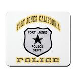 Fort Jones California Police Mousepad