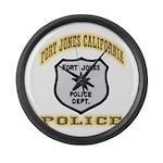 Fort Jones California Police Large Wall Clock
