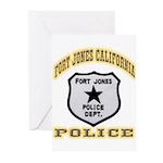 Fort Jones California Police Greeting Cards (Pk of