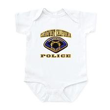 Claremont California Police Infant Bodysuit