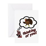 Thinking of You Turkey Greeting Card
