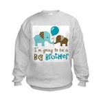 Big Brother to be - Elephant Kids Sweatshirt