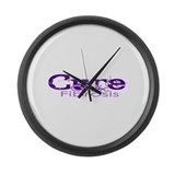Cure Cystic Fibrosis Purple Large Wall Clock