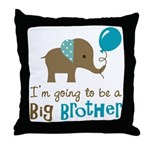 Big Brother to be - Elephant Throw Pillow