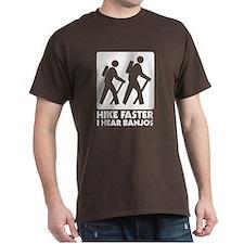 Hike-banjos-whtv2 T-Shirt