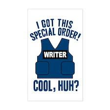 Castle Writer Vest Quote Sticker (Rectangle)