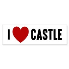 I Love Castle Bumper Sticker