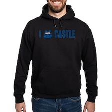 I Love/Vest Castle Hoodie (dark)