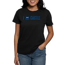 I Love/Vest Castle Women's Dark T-Shirt