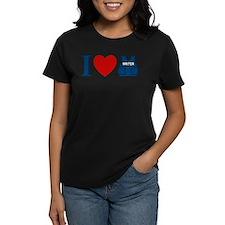 Castle I Heart Writer Vest Women's Dark T-Shirt